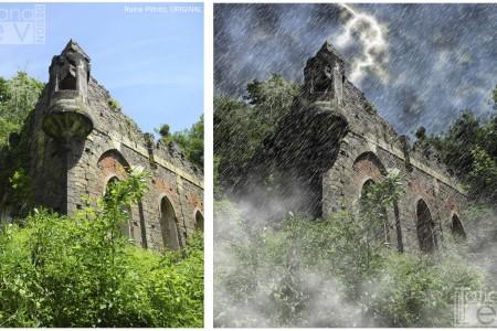Fotobearbeitung - Schloss, Unwetter